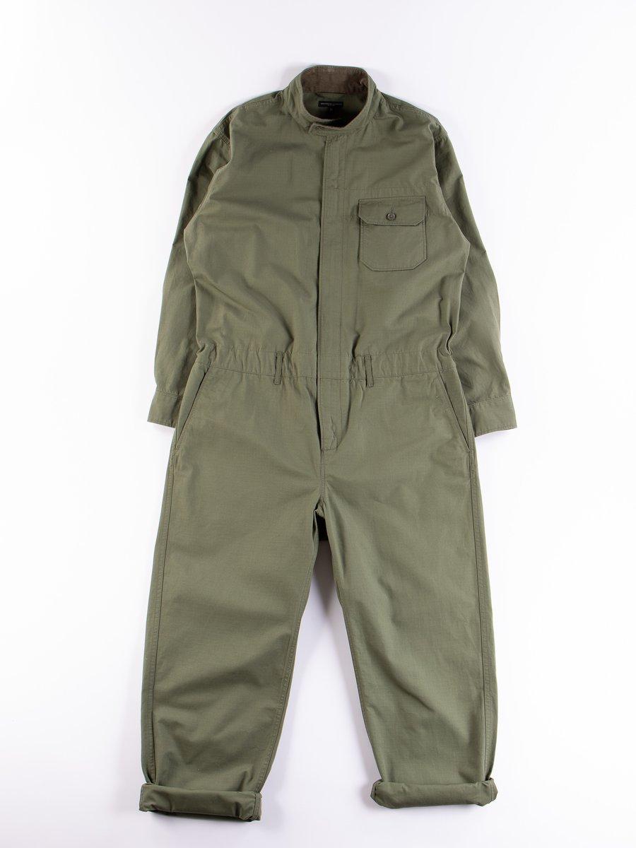 Olive Cotton Ripstop Boiler Suit