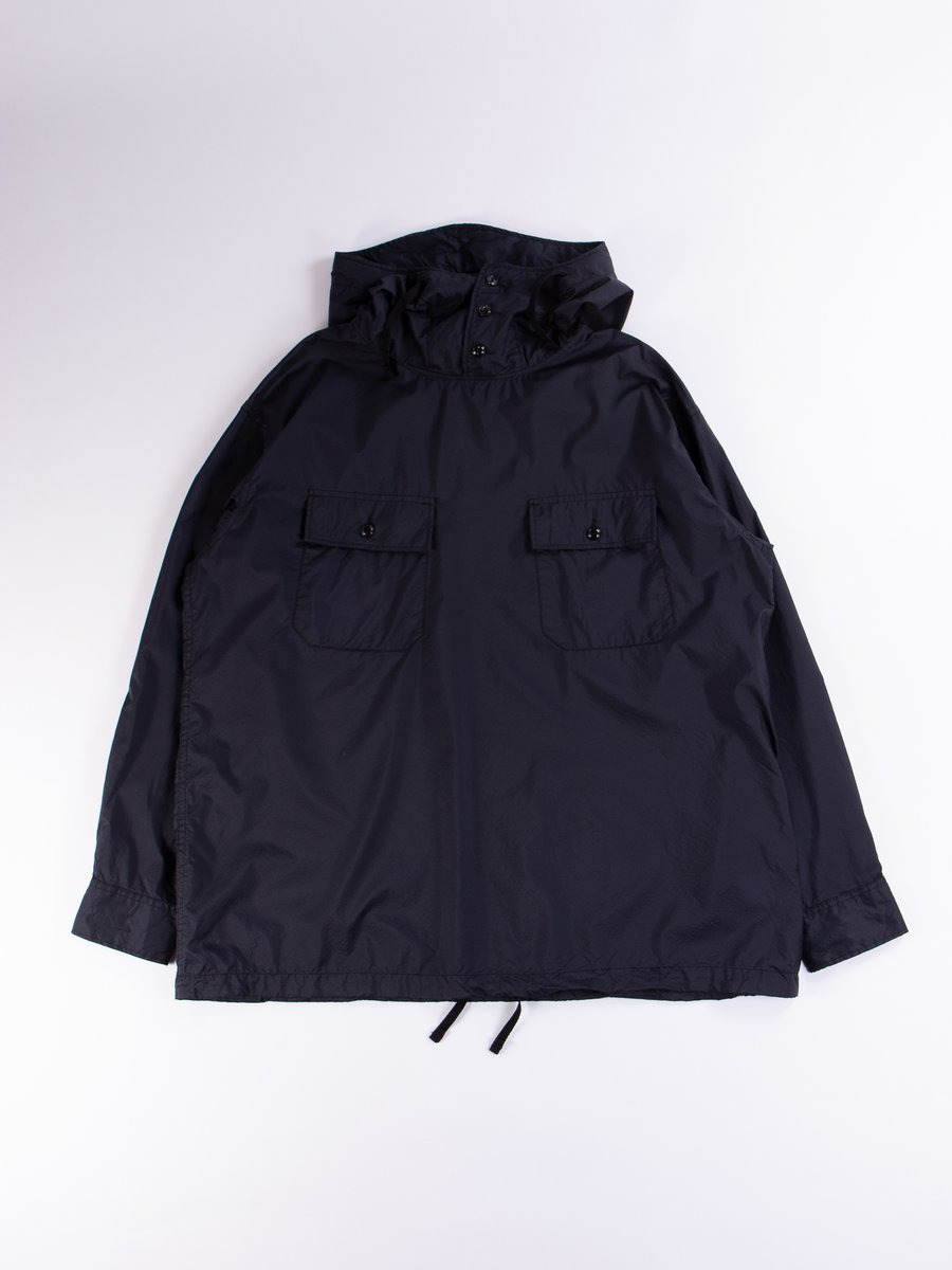 Dark Navy Nylon Micro Ripstop Cagoule Shirt