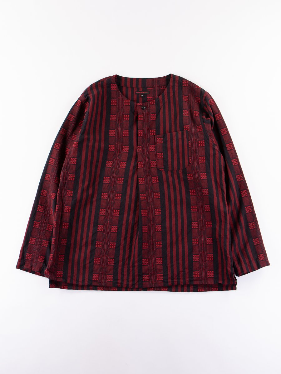 Red/Black Ethnic Stripe Jacquard MED Shirt