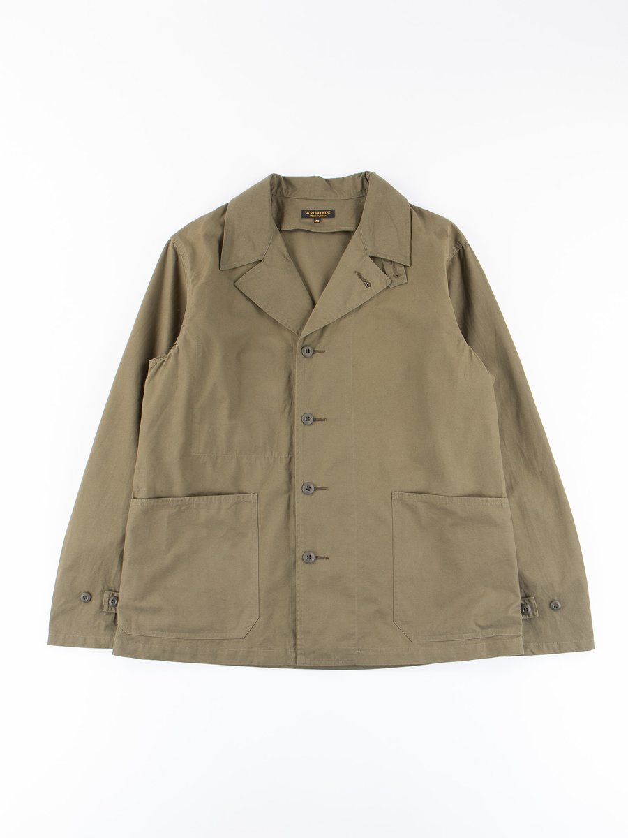 Olive Utility Coverall Jacket
