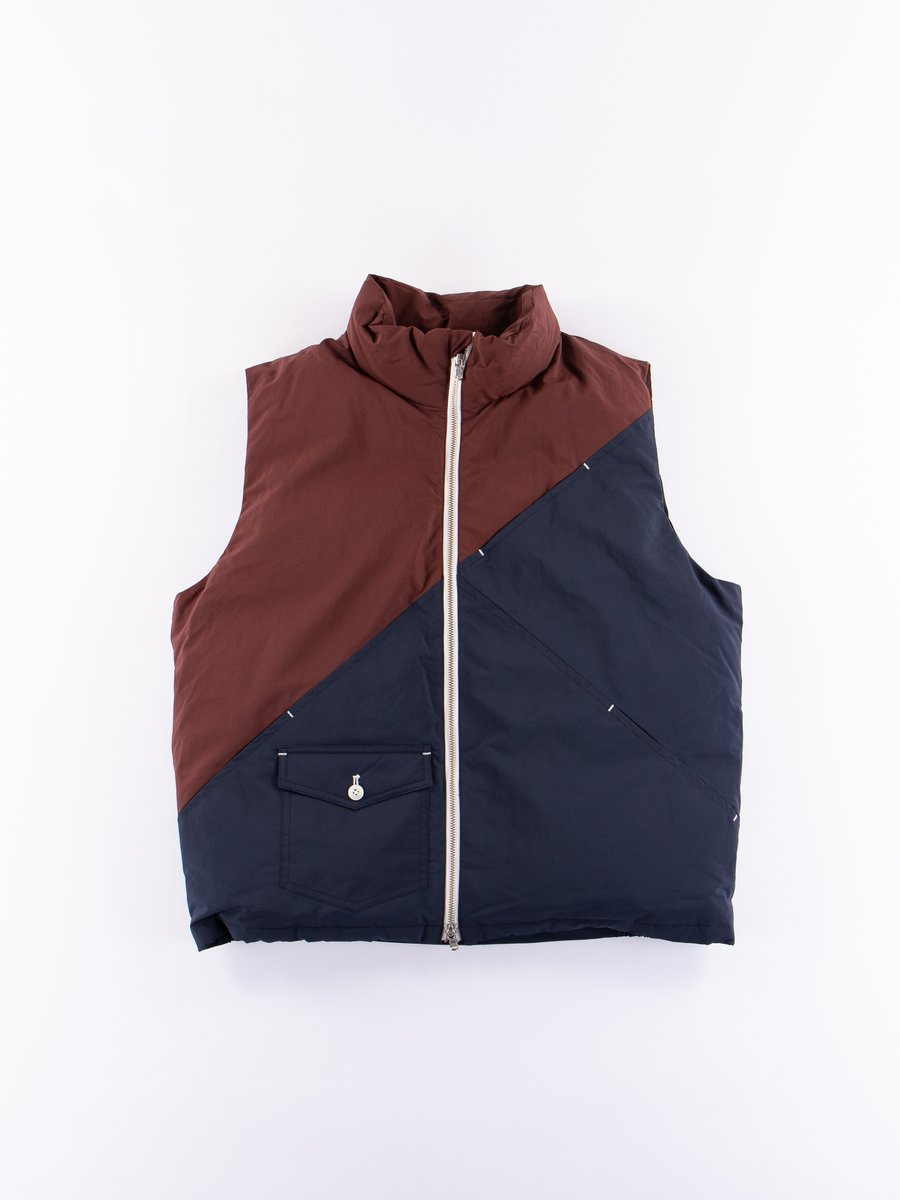 Burgundy/Navy Down Vest