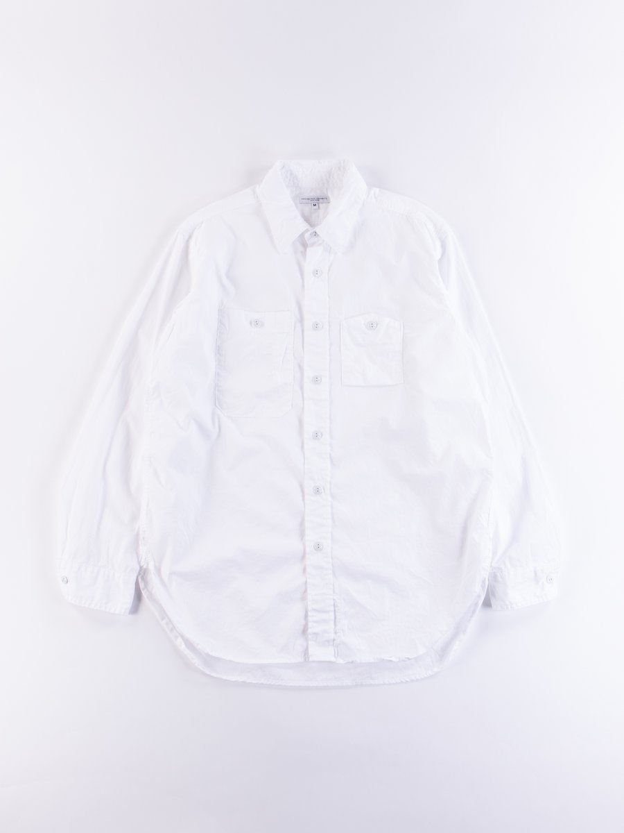 White Superfine Poplin Work Shirt