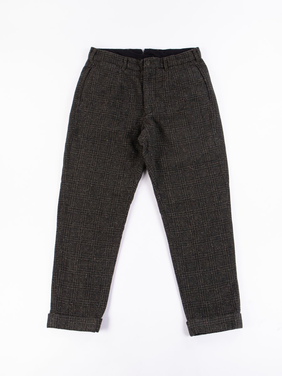 Olive Plaid Donegal Tweed Andover Pant