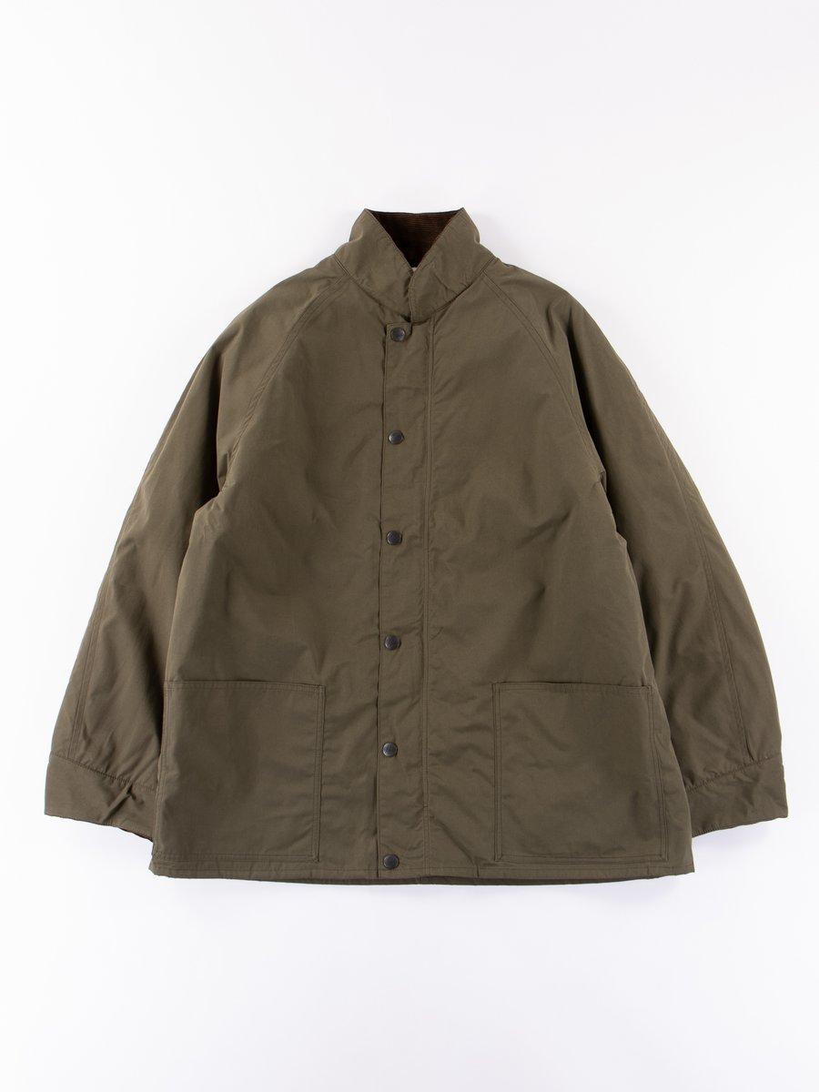Olive Zipped Chore Coat