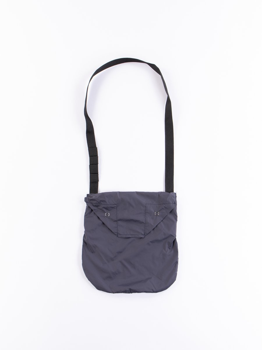 Dark Navy Nylon Taffeta Shoulder Pouch