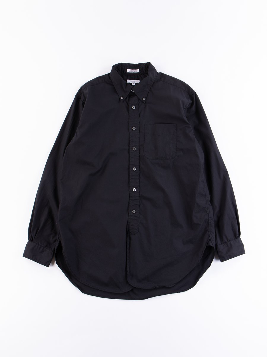 Black Superfine Poplin 19th Century BD Shirt