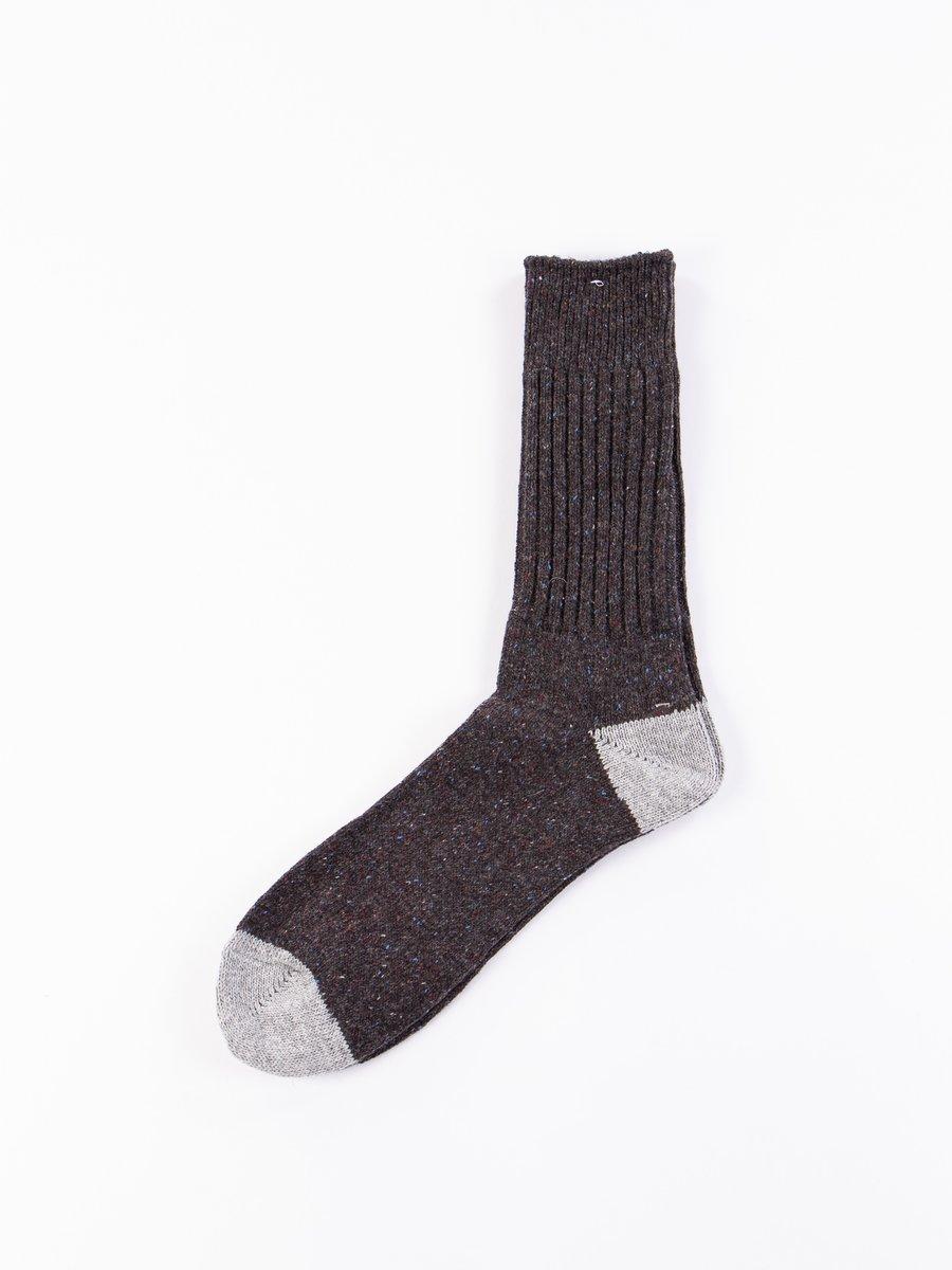 Charcoal Nep Yarn Crew Socks