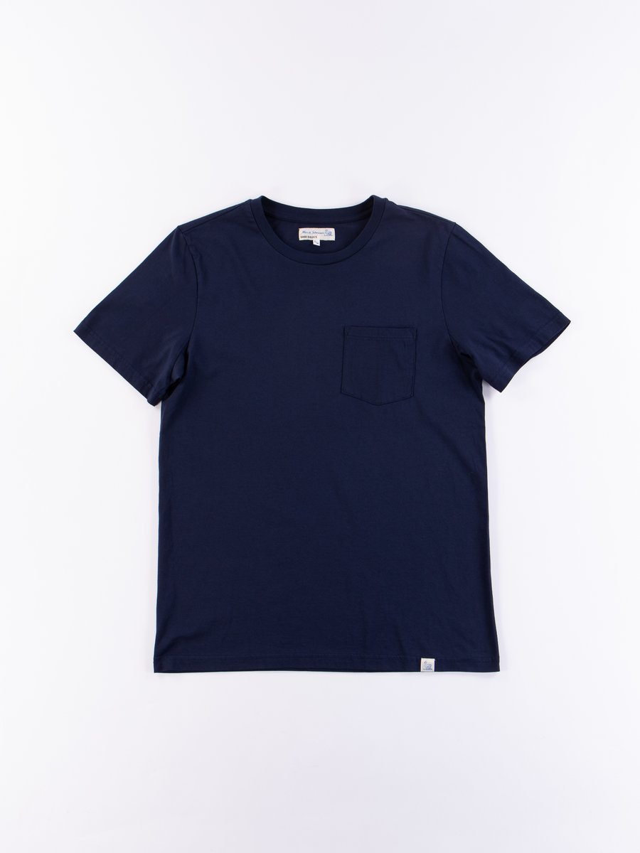 Deep Blue Good Basics CTP01 Pocket Crew Neck Tee