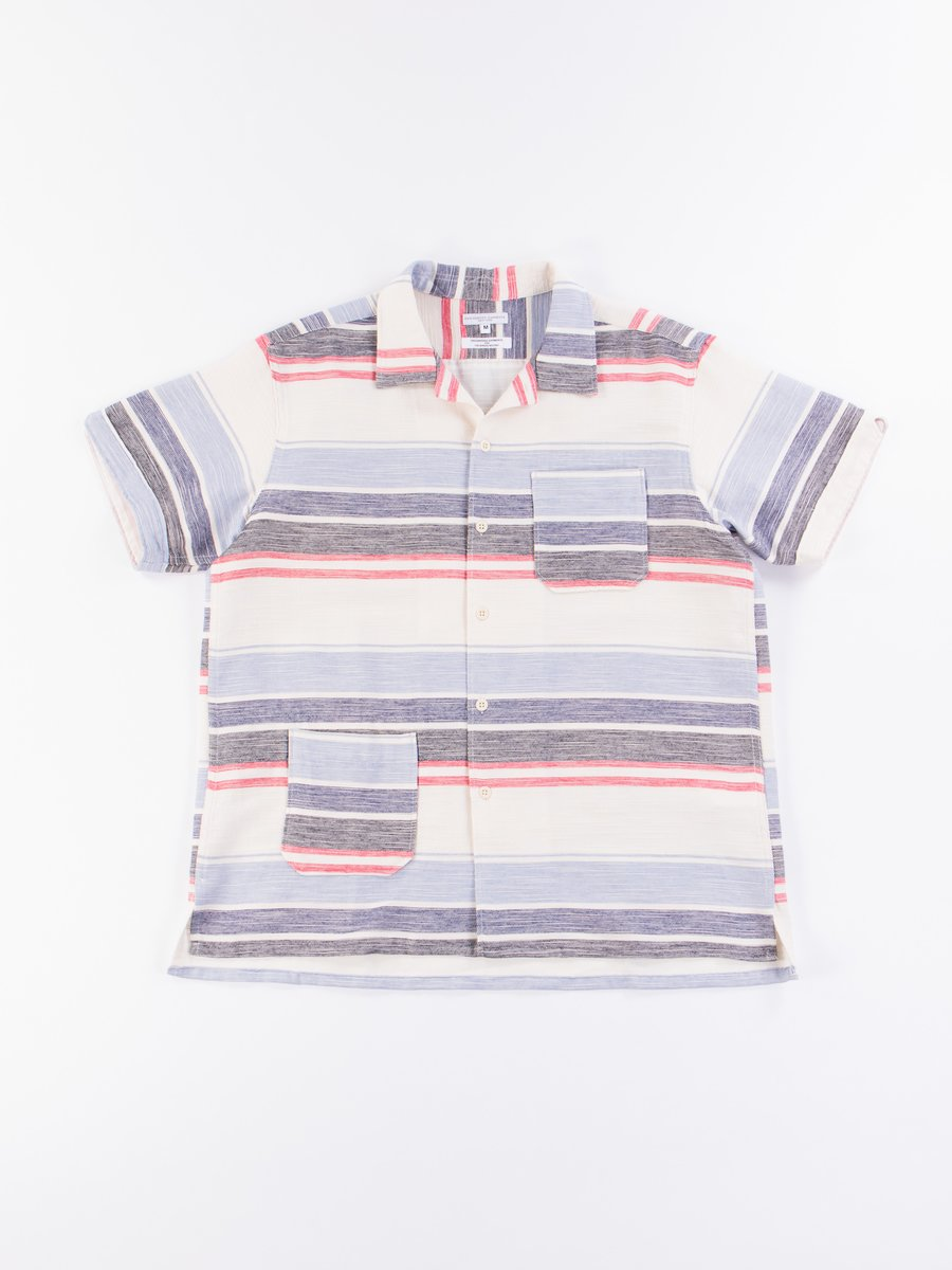 Natural/Red/Blue Horizontal Slab Camp Shirt