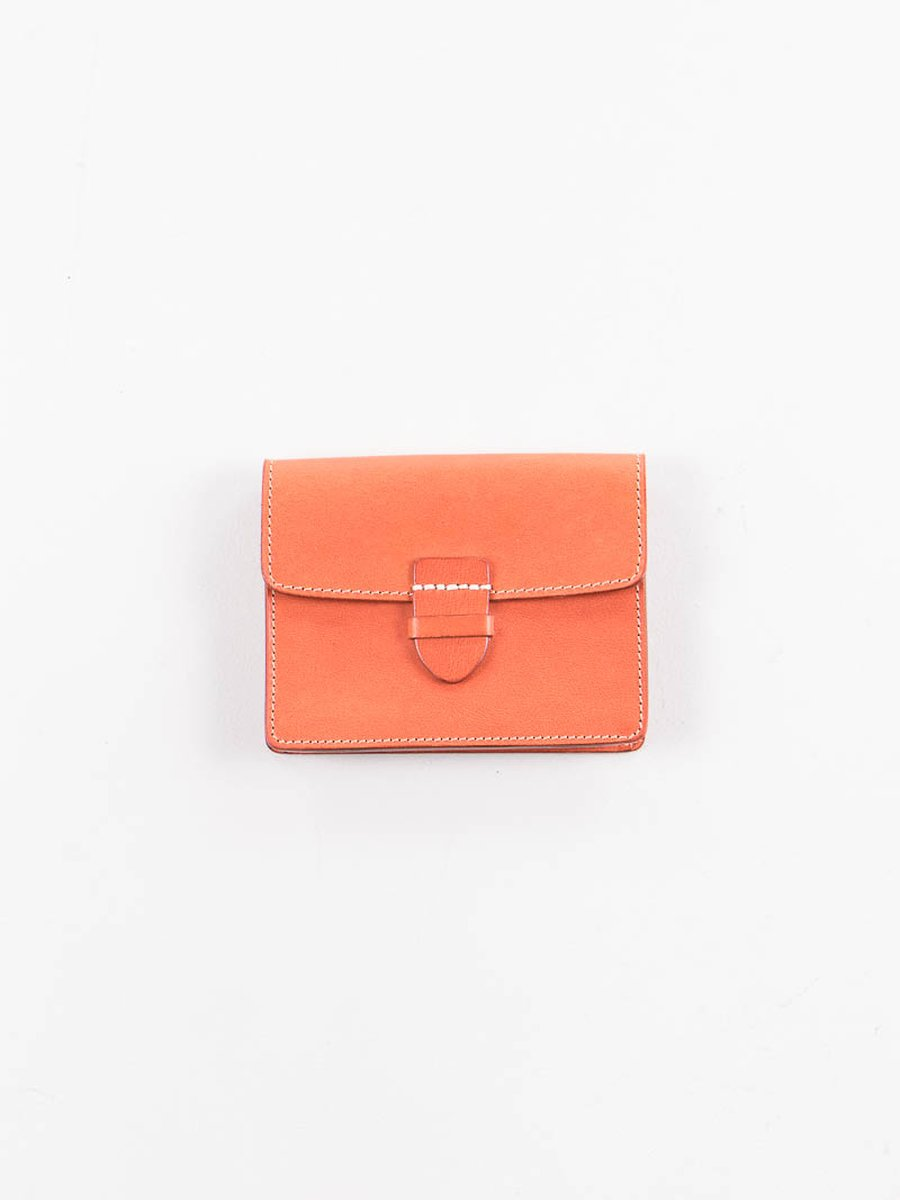 Orange Italian Calf Small Wallet