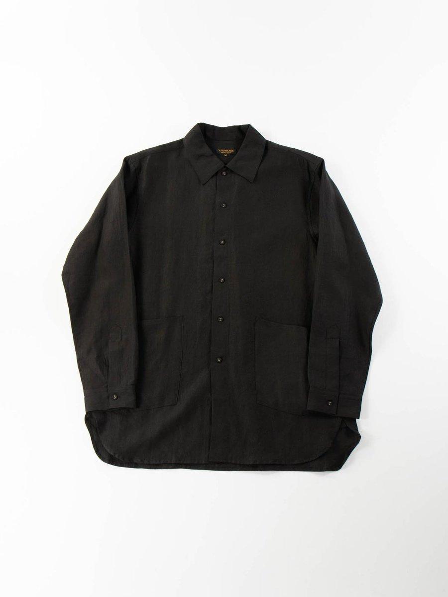 LINEN GARDNER SHIRT BLACK