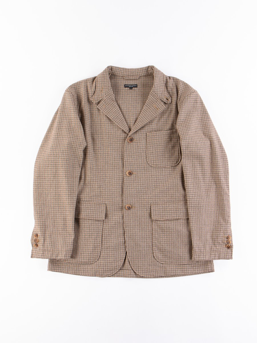 Brown Wool Poly Gunclub Check Loiter Jacket