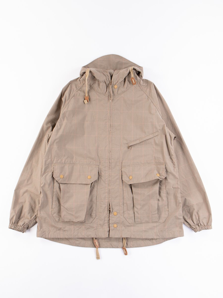 Khaki Nyco Mini Tattersall Atlantic Parka