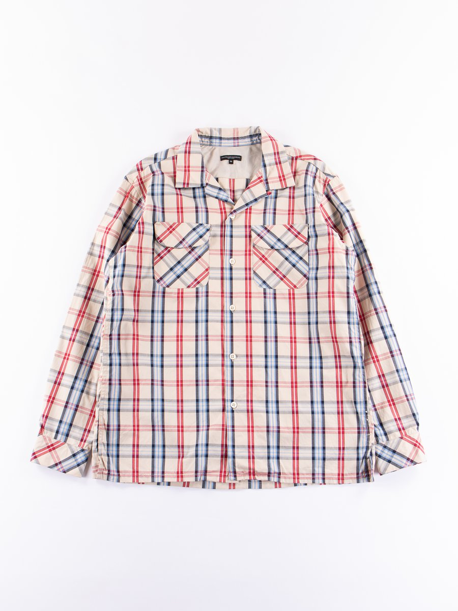 Khaki/Red/Blue Plaid Classic Shirt
