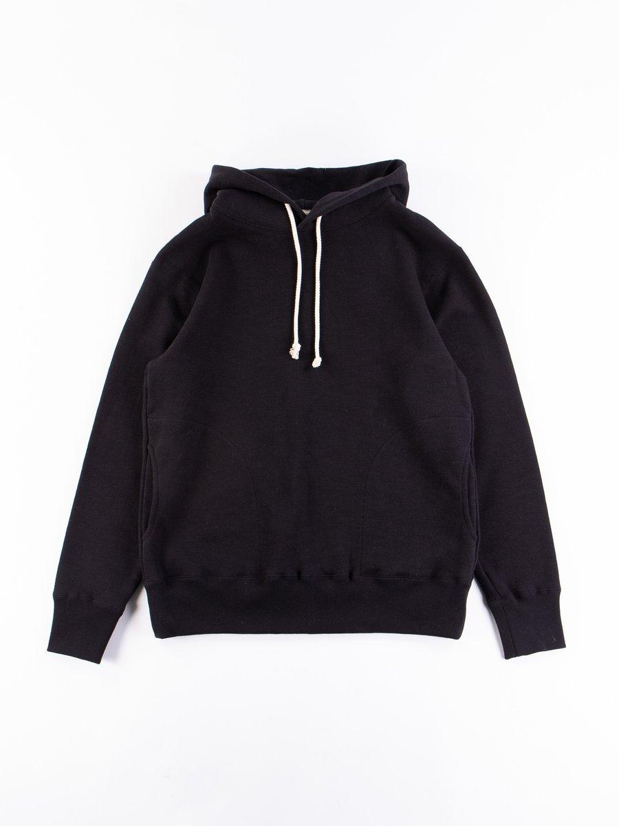Black GG Sweat Pullover Parka