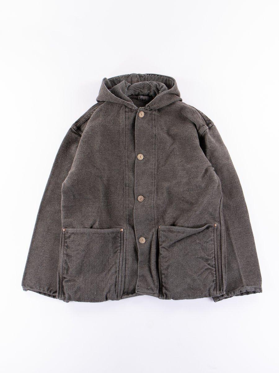 Indian Black Dye Hooded Shepherd's Coat