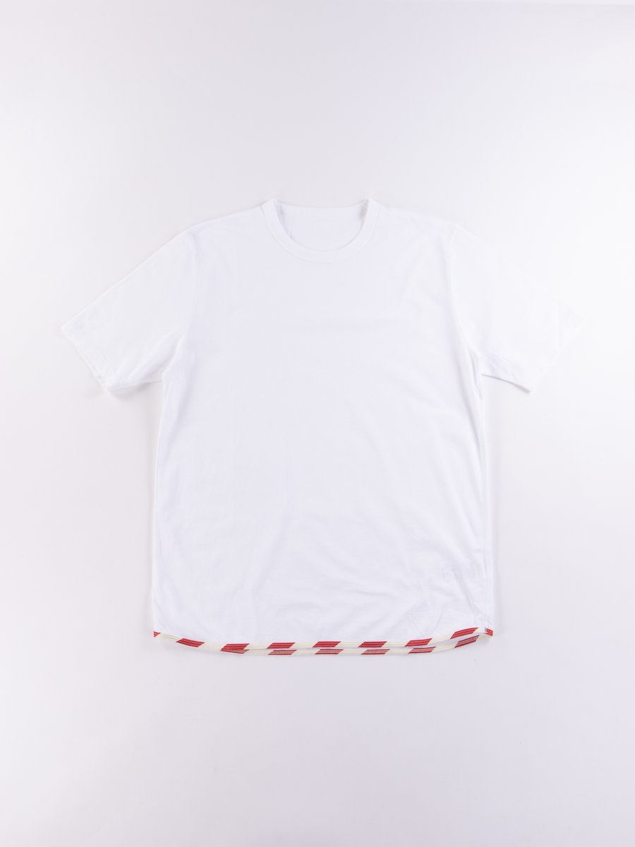 White/Red Sublig Tee
