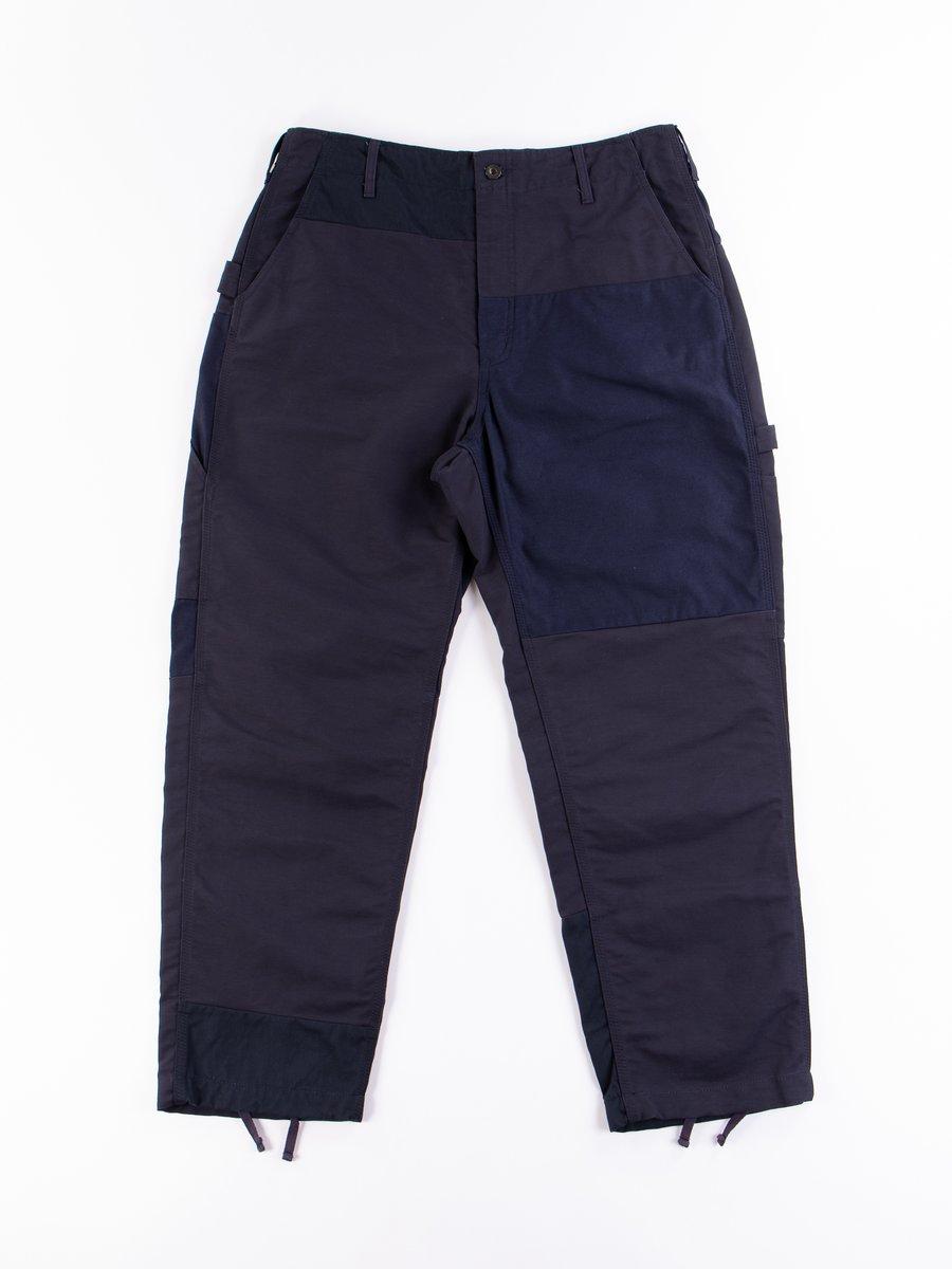 Navy Cotton Double Cloth Painter Pant