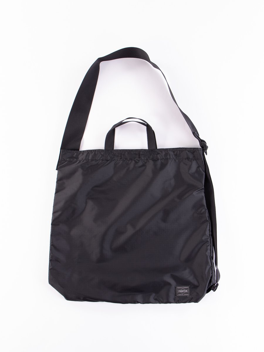 Black Flex 2Way Shoulder Bag