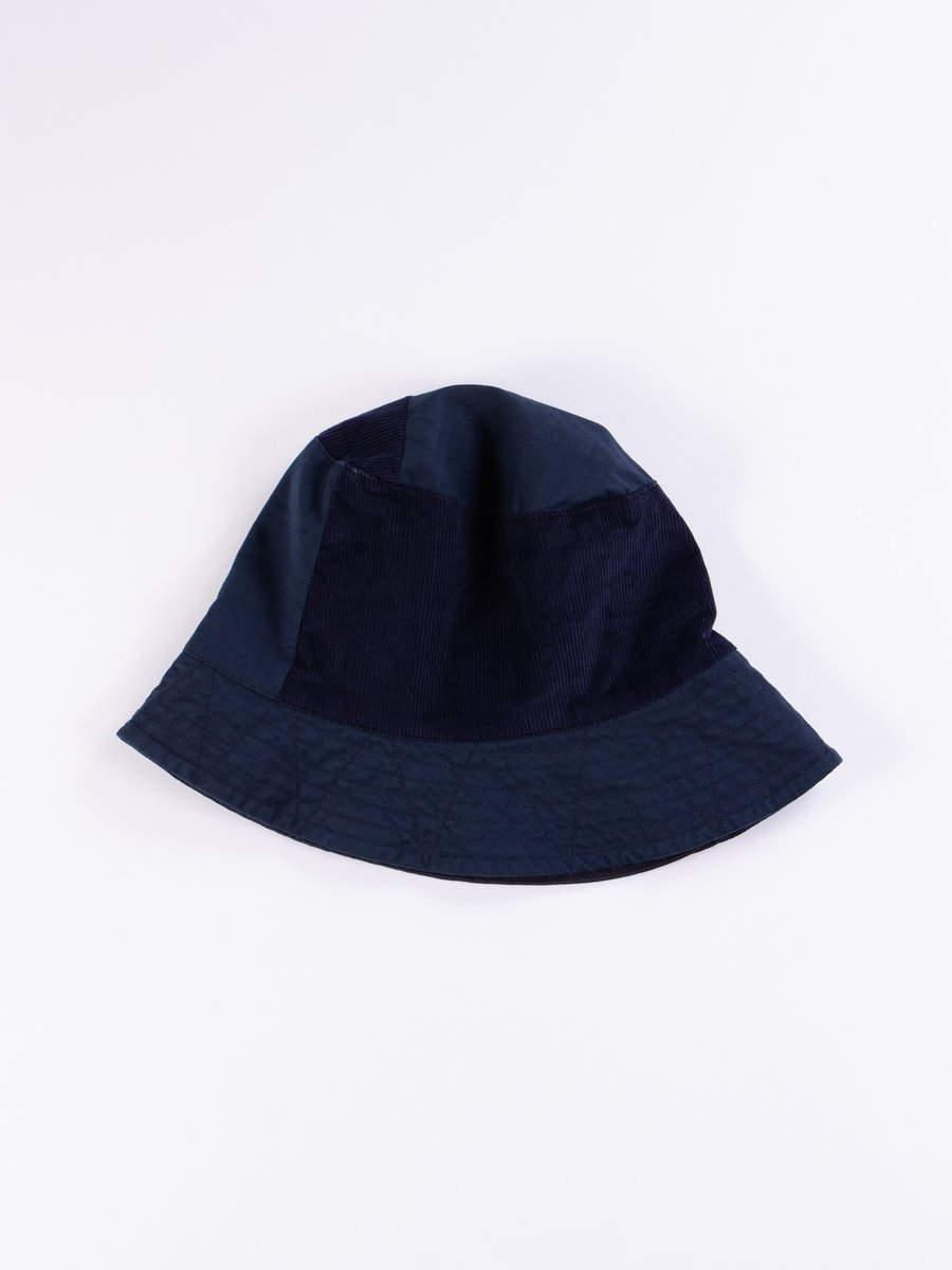 Navy 6.5oz Flat Twill Bucket Hat