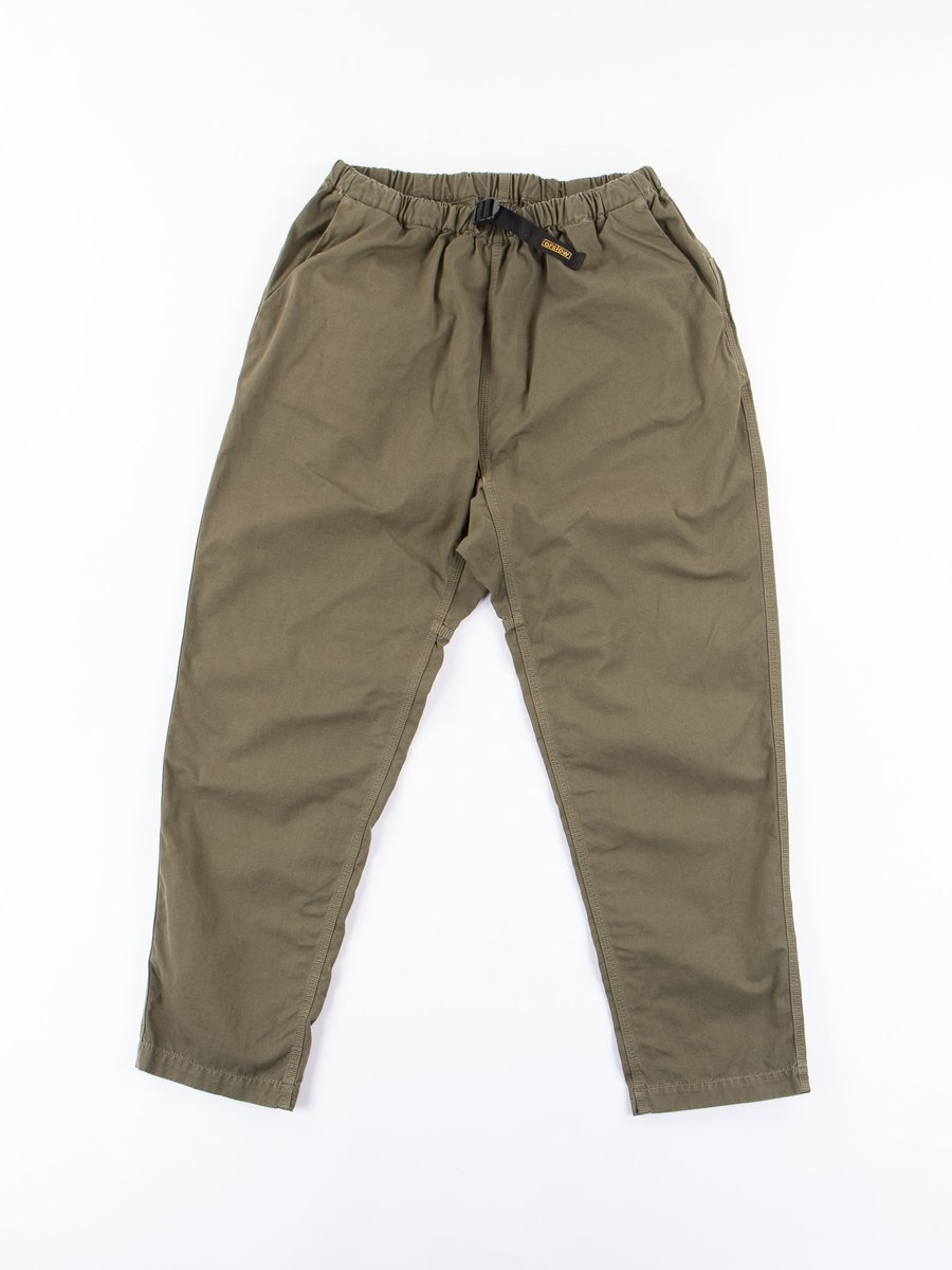 Olive Overdyed Poplin Climbing Pant