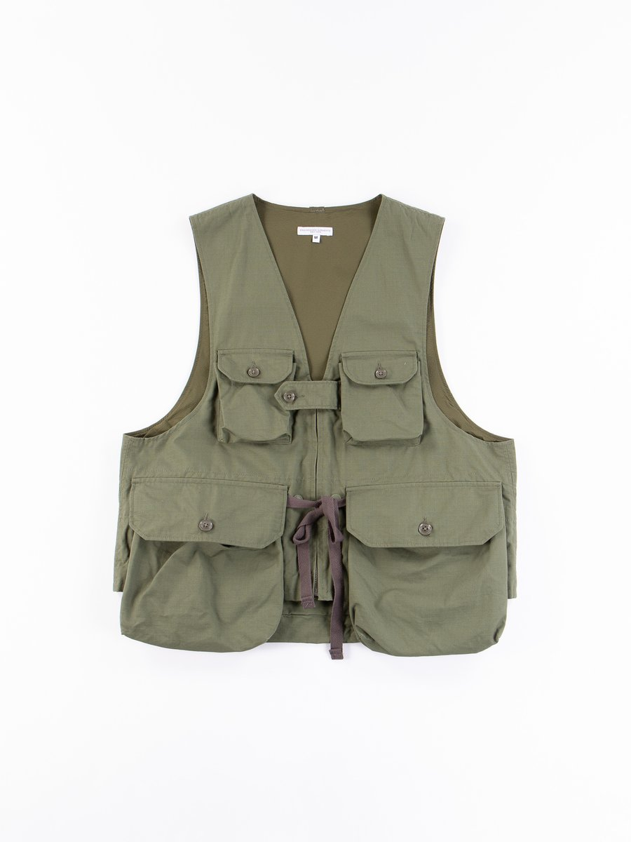 Olive Cotton Ripstop Game Vest