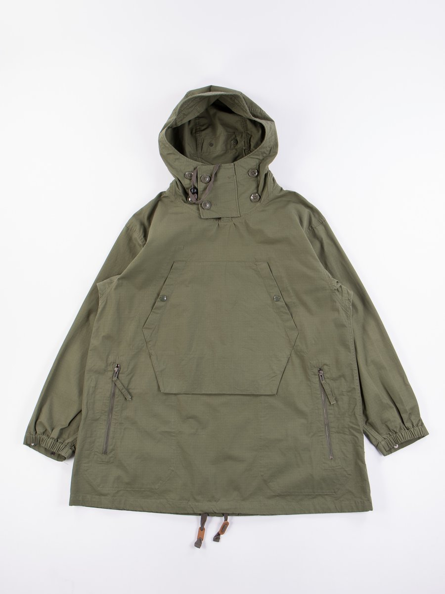 Olive Cotton Ripstop Over Parka