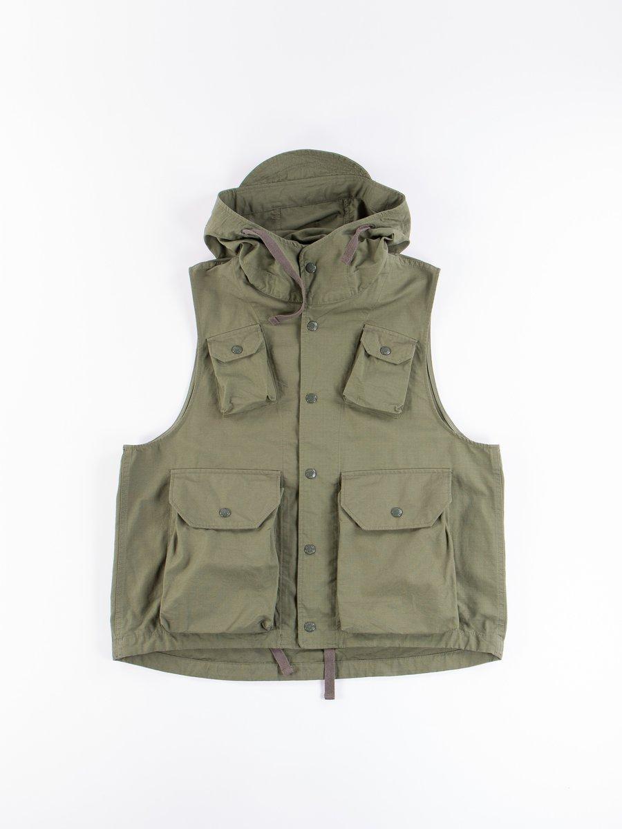 Olive Cotton Ripstop Field Vest
