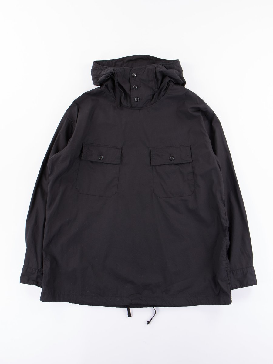 Black Superfine Poplin Cagoule Shirt