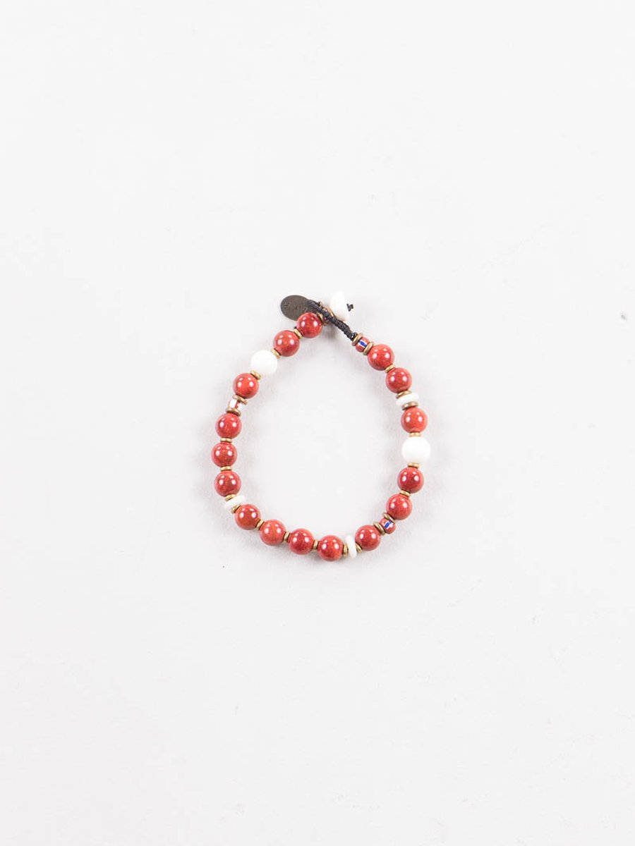 Coral/White 8mm Bracelet
