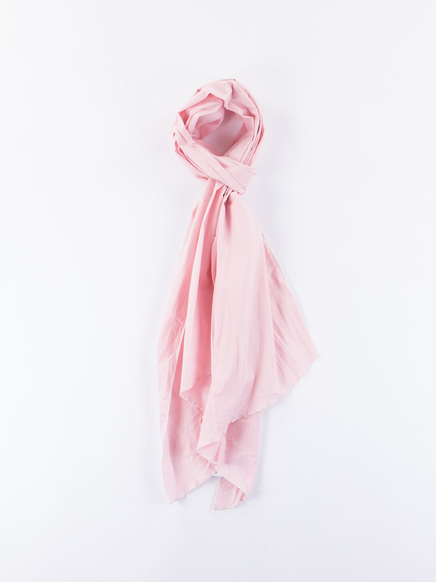 Pink High Count Cotton Lawn Long Scarf
