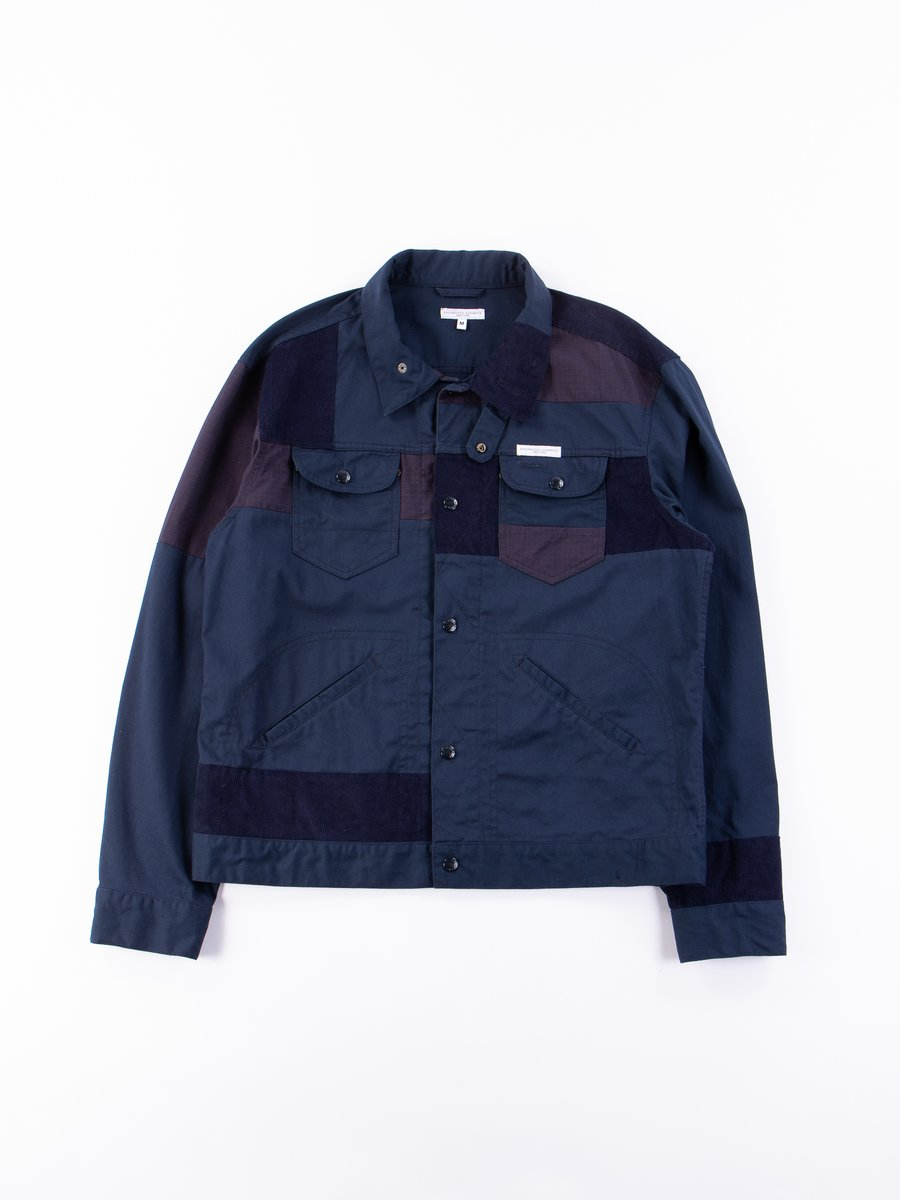 Navy 6.5oz Flat Twill Trucker Jacket