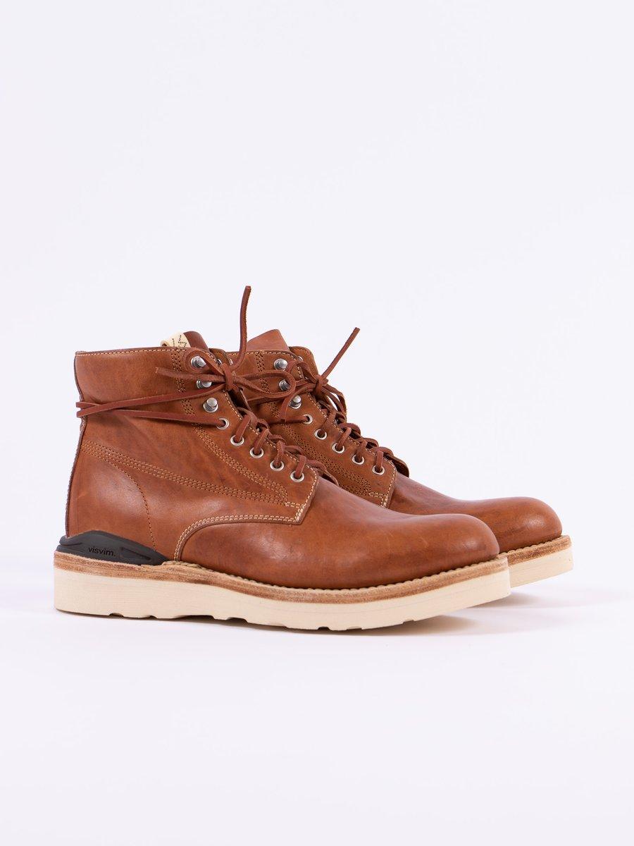 Brown Horsehide Virgil Boots–Folk