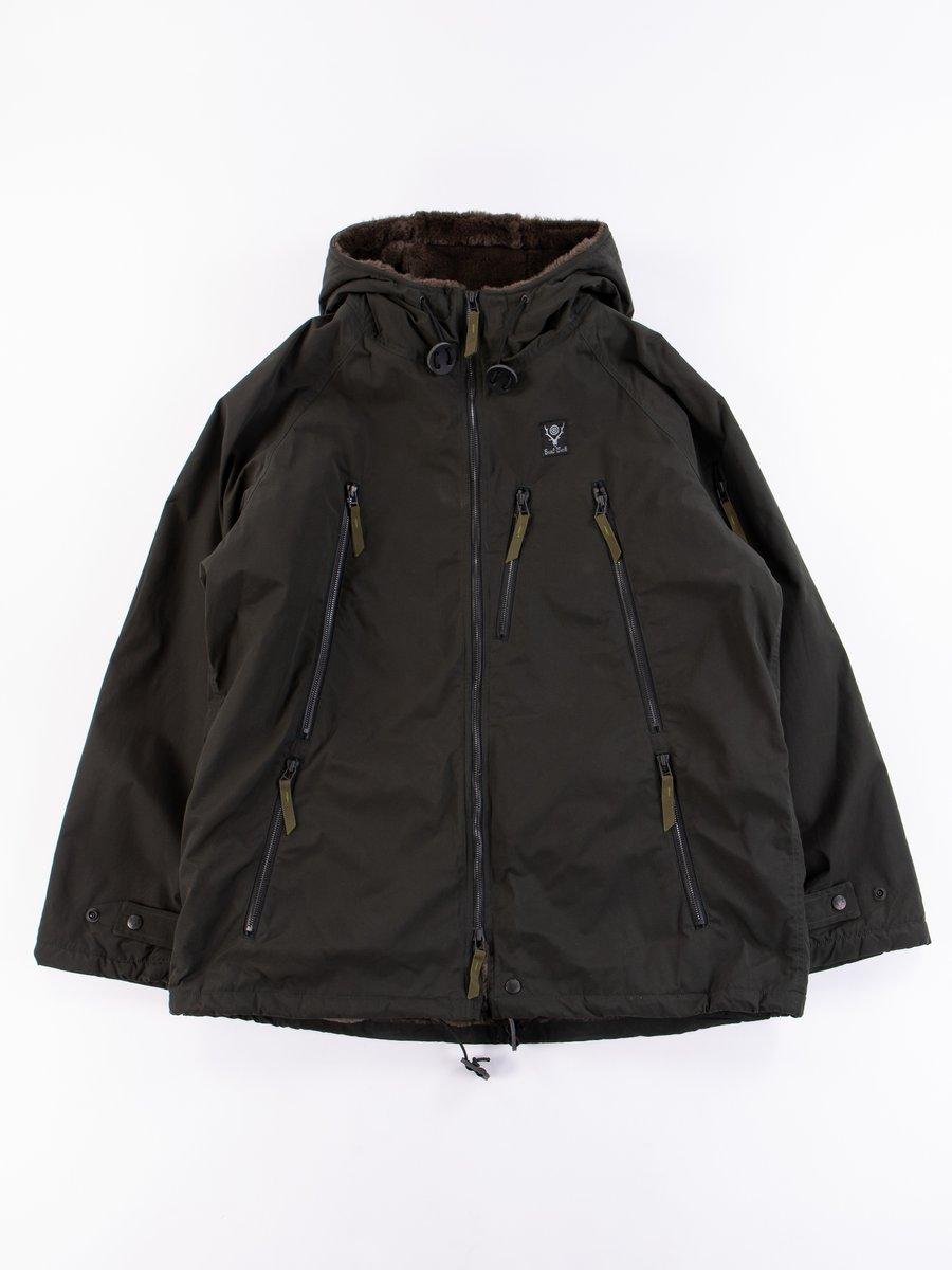 Green Wax Coating Zipped Coat