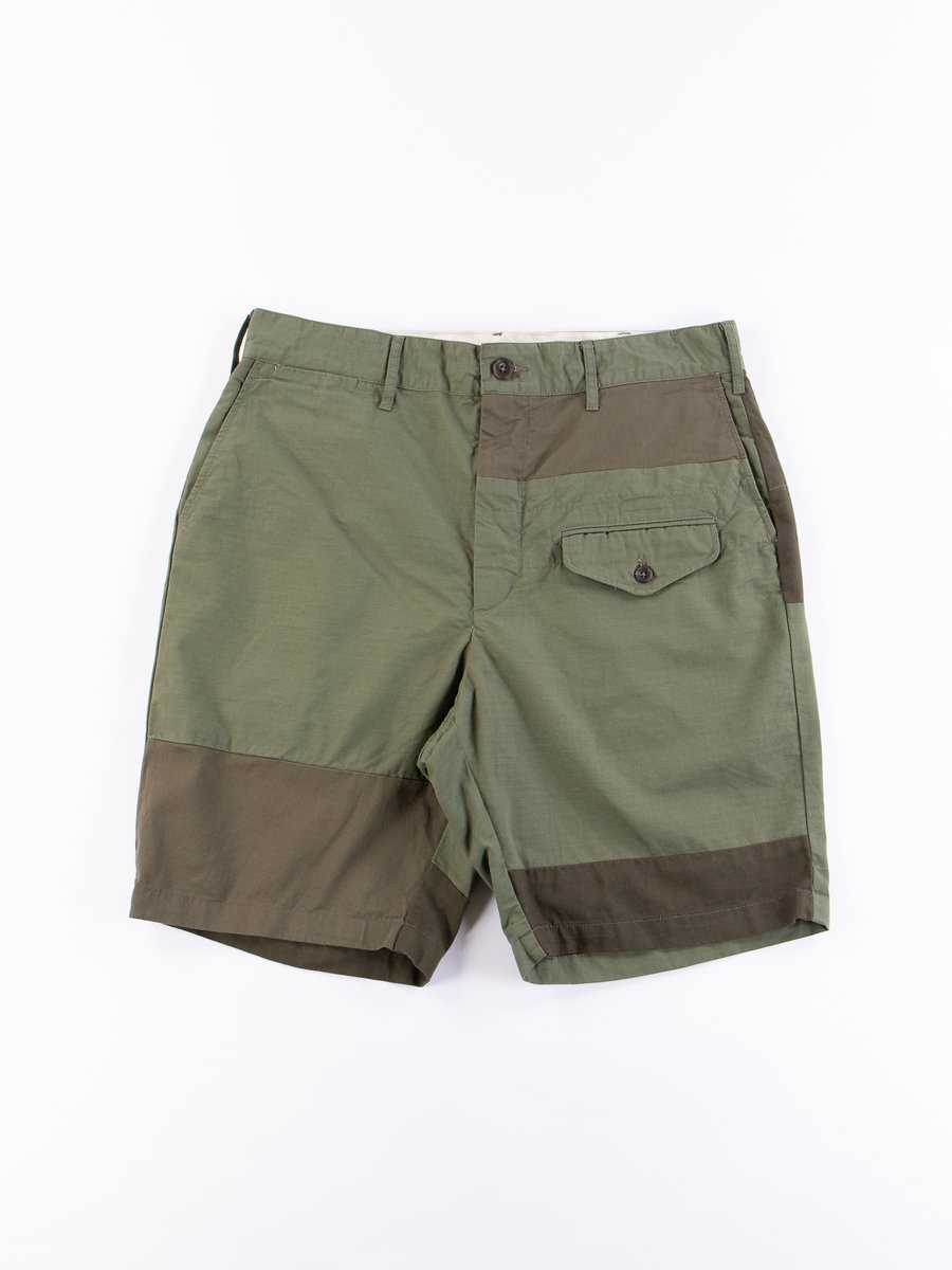 Olive Cotton Ripstop Ghurka Short