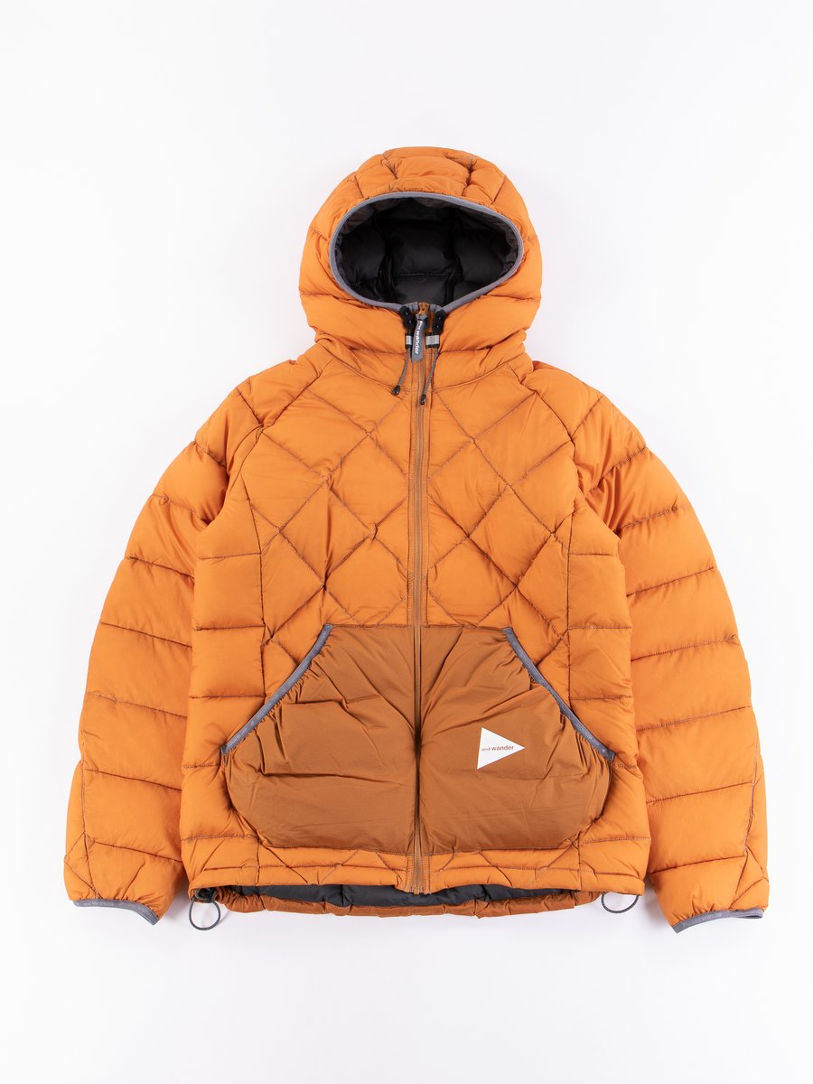 Orange Diamond Padded Jacket