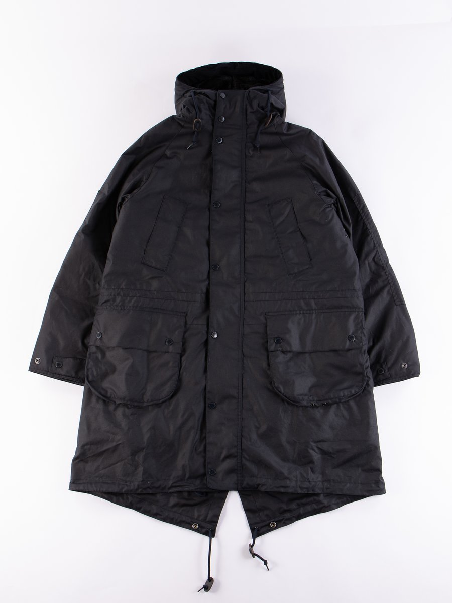 Navy Highland Wax Parka