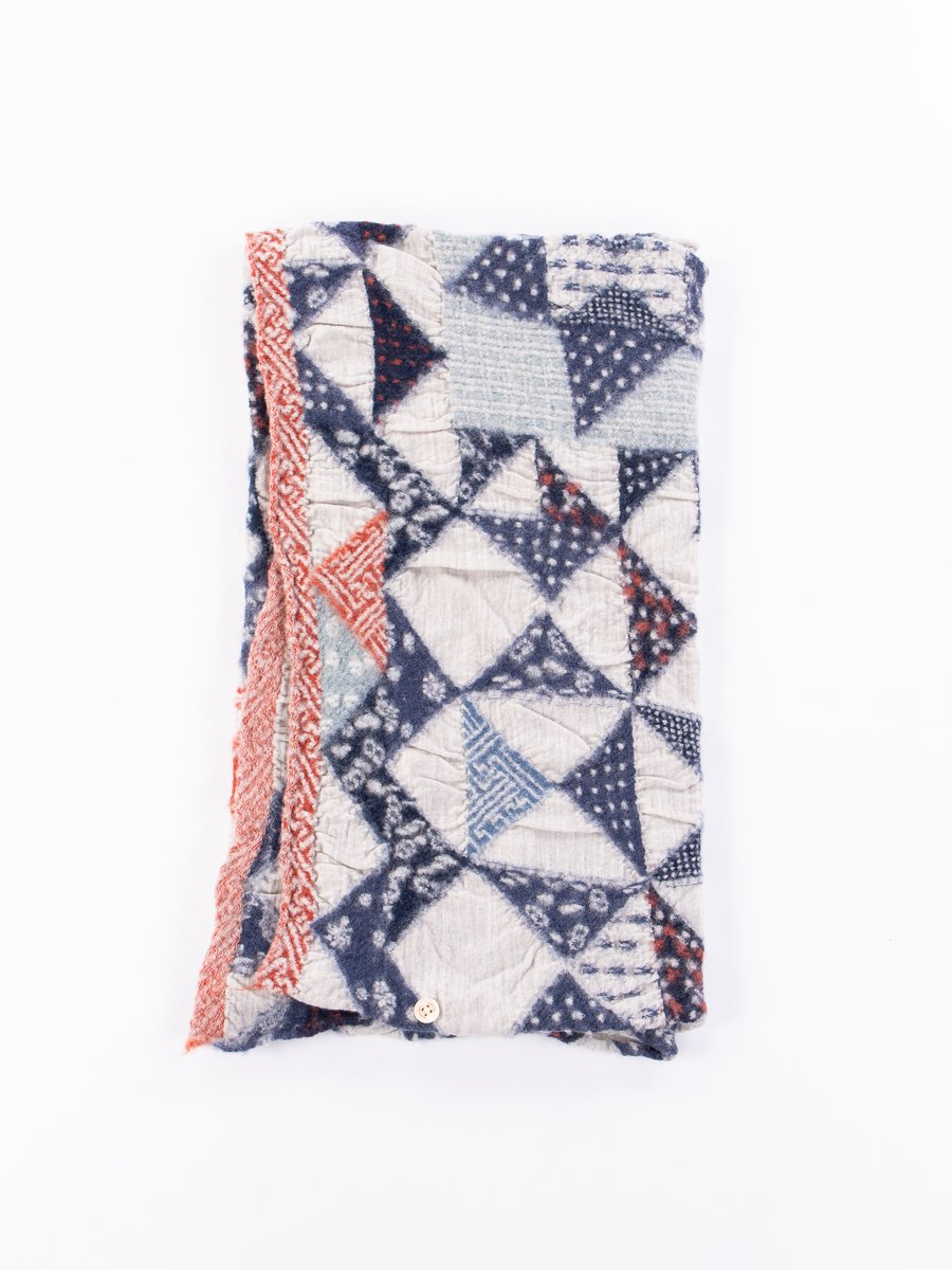 Trico Patchwork Quilt Compressed Wool Scarf