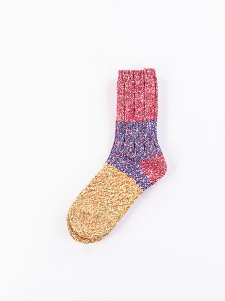 Pink 56 Yarns Cotton Slub Gogh Grandrelle Socks