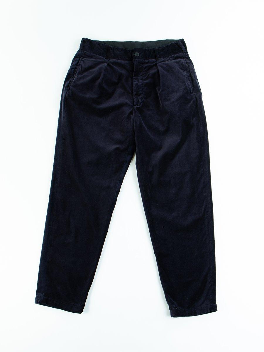 Dark Navy Cotton Velveteen Carlyle Pant