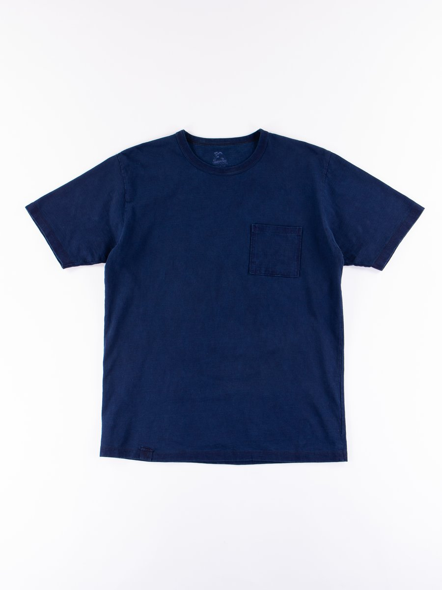 Indigo Dyed Zimbabwe Cotton Pocket T–Shirt
