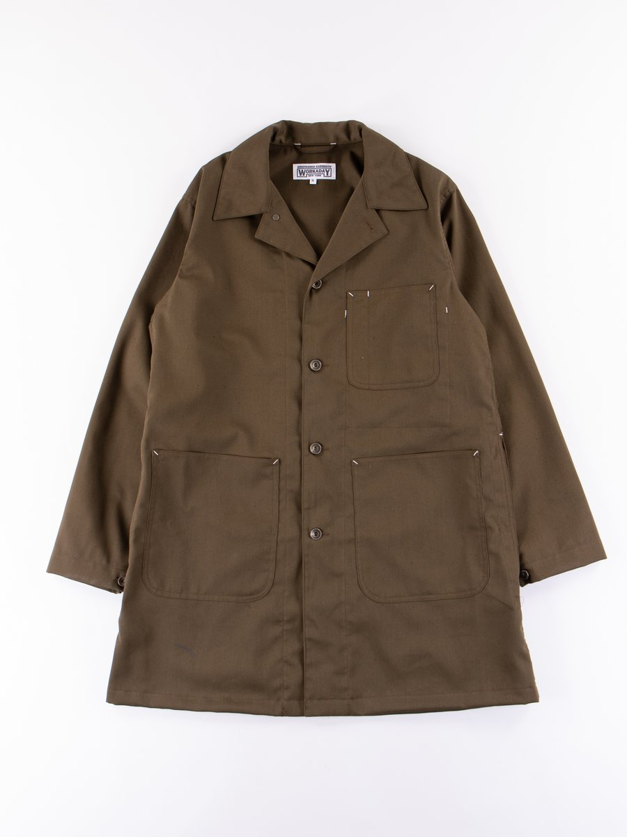 Olive Bedford Cord Shop Coat