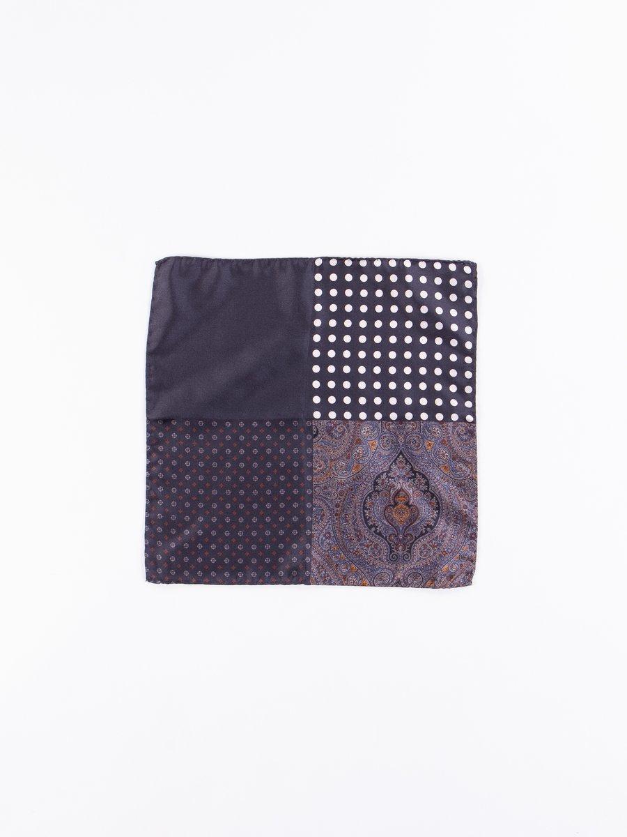 Black Four Patterns Pocket Square