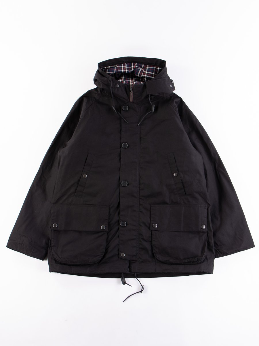 Black British Field Hooded Jacket