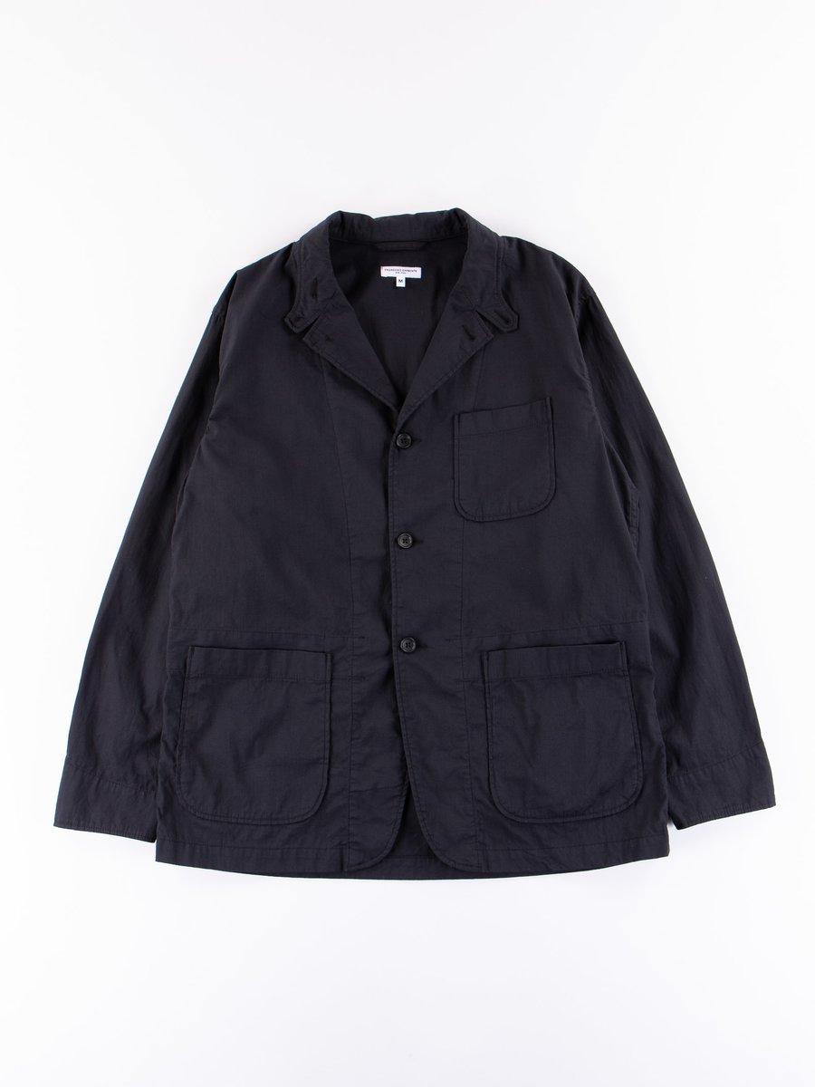 Black Cotton Cordlane Loiter Jacket