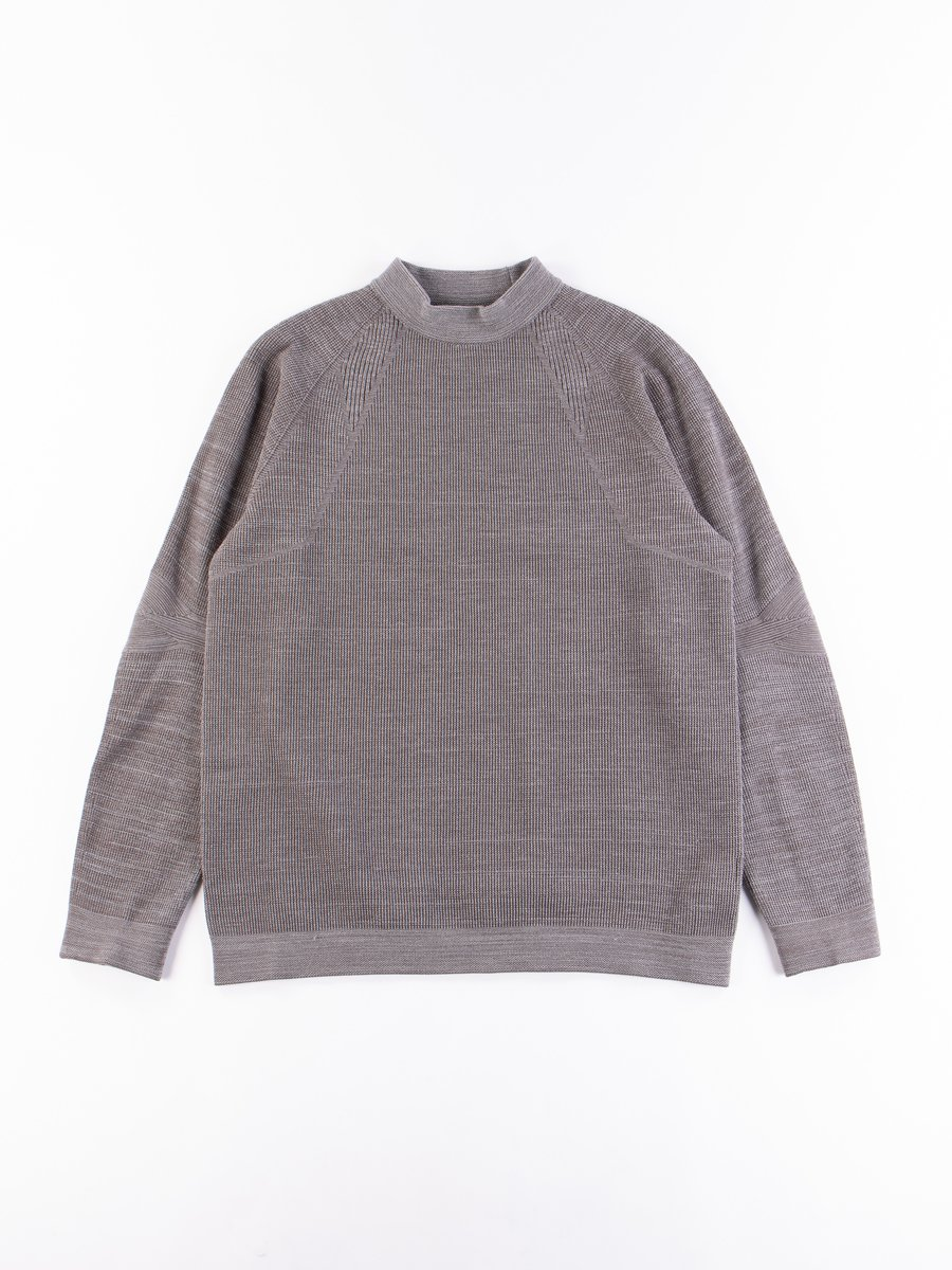 Mid Grey Stretch Knit Pullover