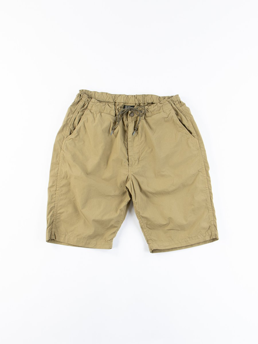 Gold Brown Cotton Poplin New Yorker Short