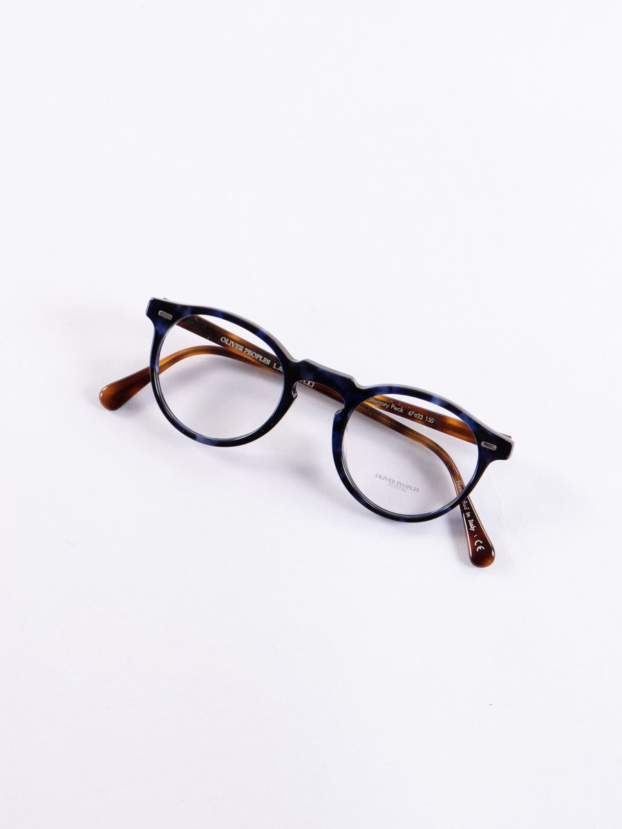 Cobalt Tortoise Gregory Peck Optical Frame