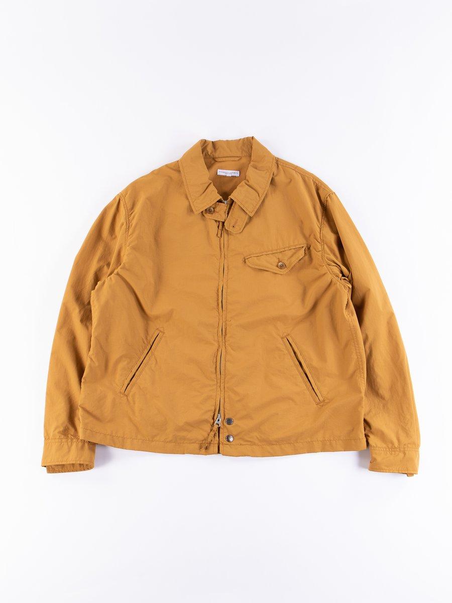 Mustard Acrylic Coated Nylon Taffeta Driver Jacket