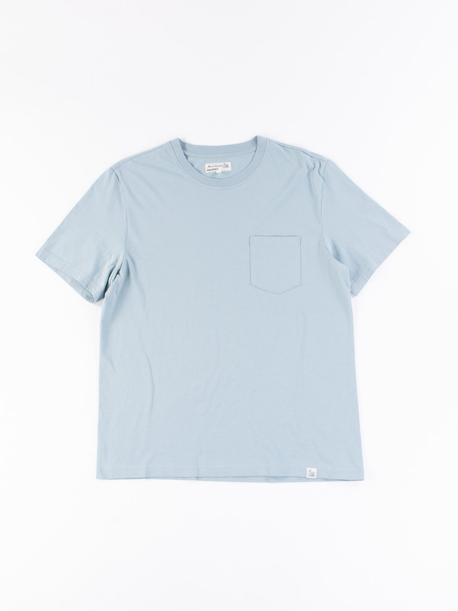 Pale Blue Good Basics CTP01 Pocket Crew Neck Tee